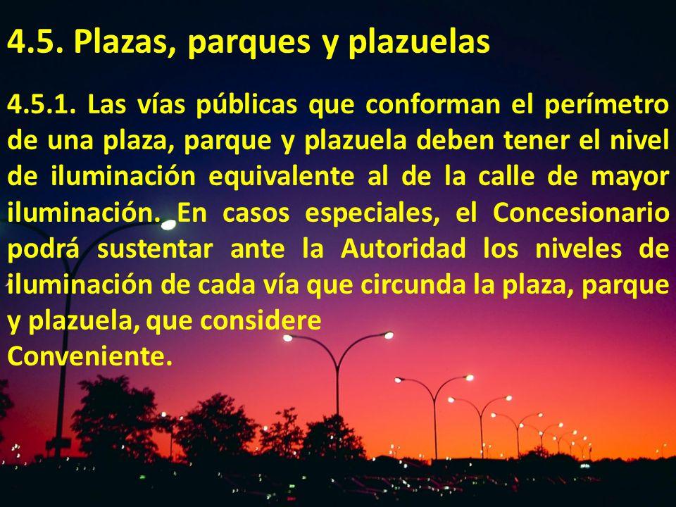 4.5. Plazas, parques y plazuelas