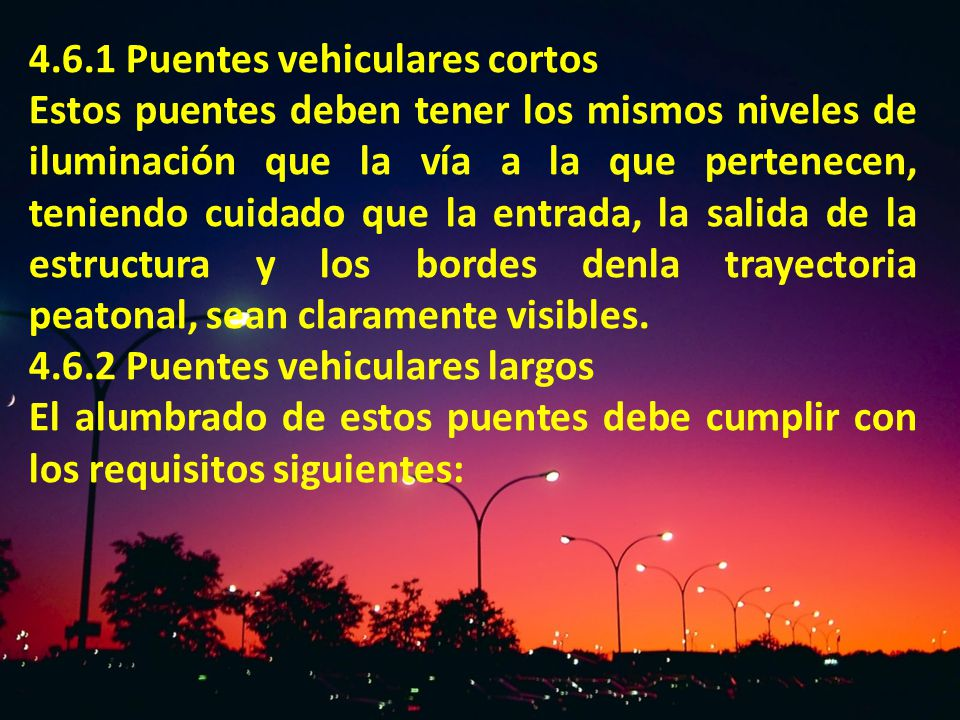 4.6.1 Puentes vehiculares cortos