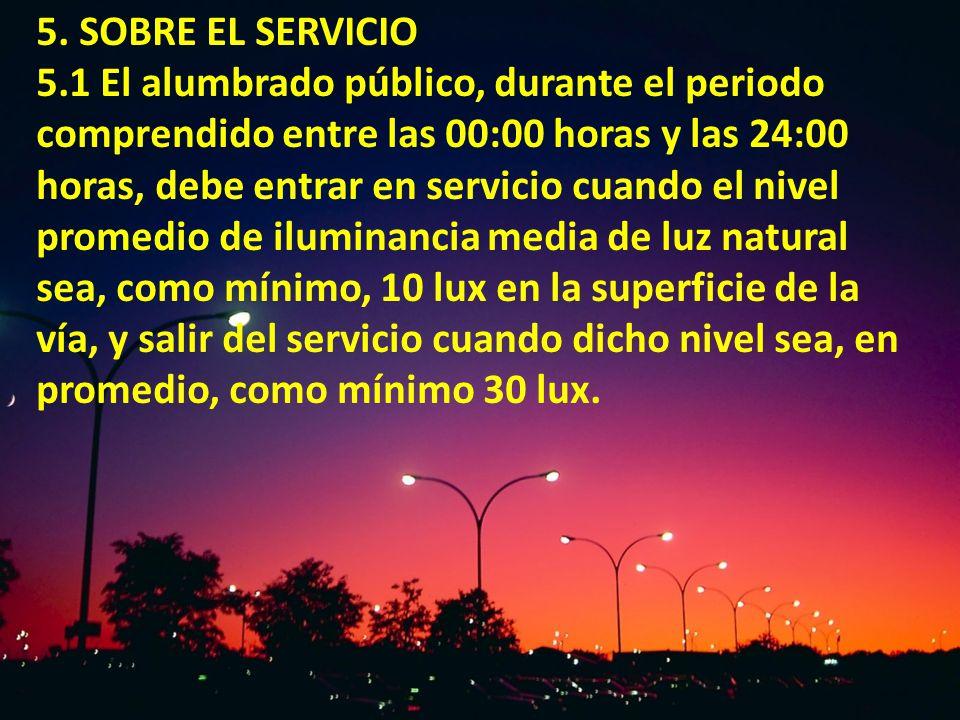 5. SOBRE EL SERVICIO