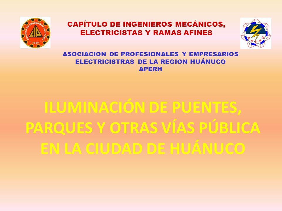 CAPÍTULO DE INGENIEROS MECÁNICOS, ELECTRICISTAS Y RAMAS AFINES