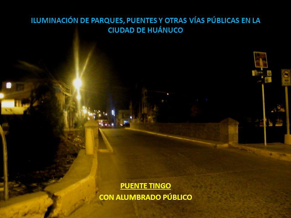ILUMINACIÓN DE PARQUES, PUENTES Y OTRAS VÍAS PÚBLICAS EN LA CIUDAD DE HUÁNUCO