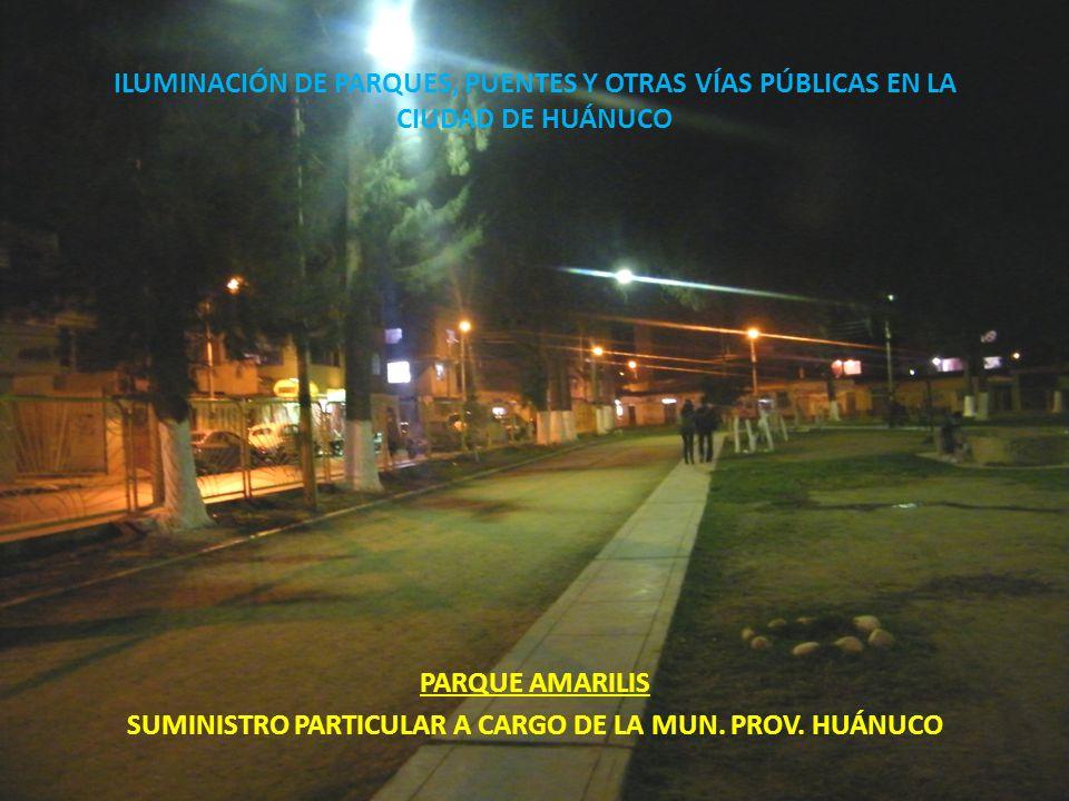 SUMINISTRO PARTICULAR A CARGO DE LA MUN. PROV. HUÁNUCO