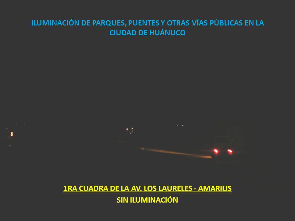 1RA CUADRA DE LA AV. LOS LAURELES - AMARILIS