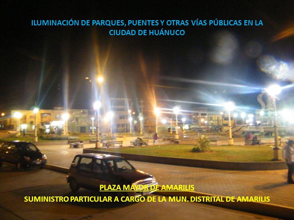 PLAZA MAYOR DE AMARILIS