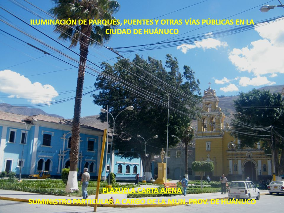 SUMINISTRO PARTICULAR A CARGO DE LA MUN. PROV. DE HUÁNUCO