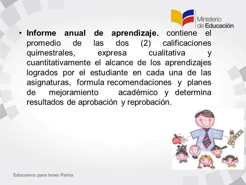 Informe anual de aprendizaje