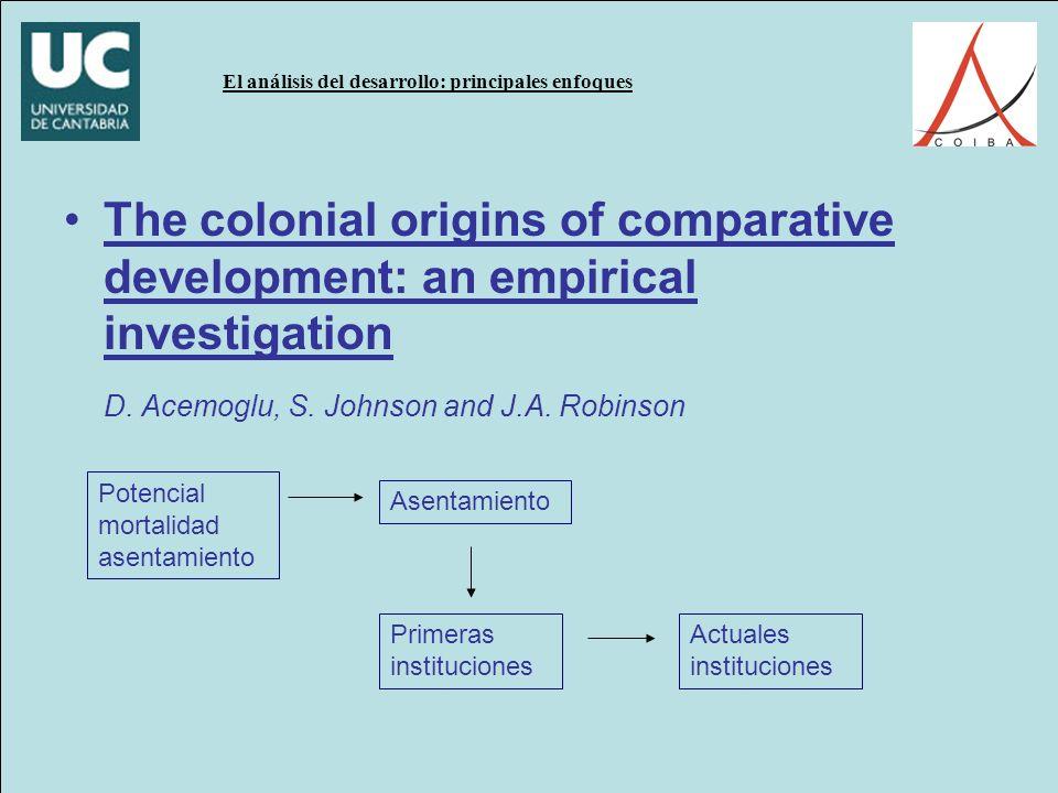 D. Acemoglu, S. Johnson and J.A. Robinson