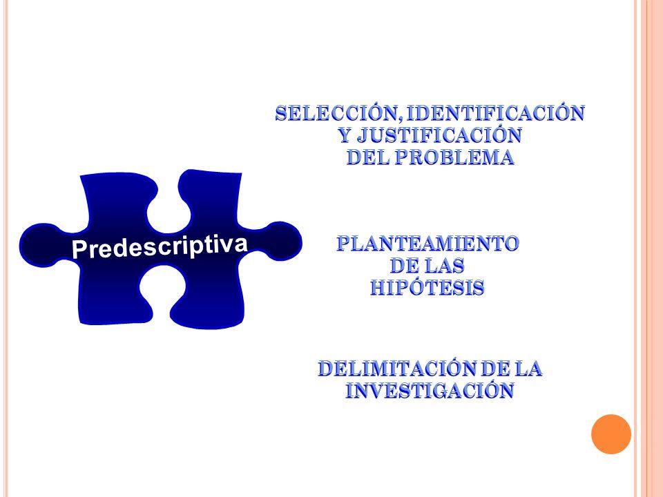 Predescriptiva SELECCIÓN, IDENTIFICACIÓN Y JUSTIFICACIÓN DEL PROBLEMA