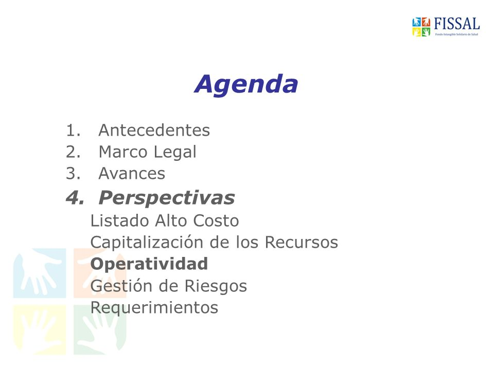 Agenda Perspectivas Antecedentes Marco Legal Avances