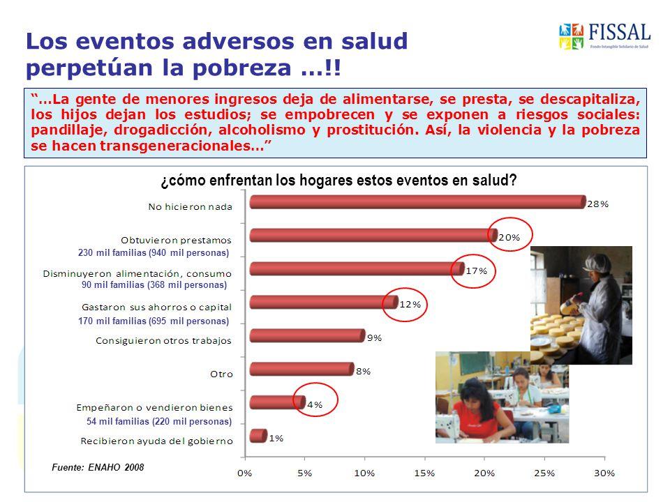 Los eventos adversos en salud perpetúan la pobreza …!!