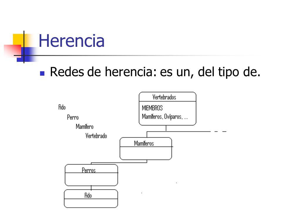 Herencia Redes de herencia: es un, del tipo de.