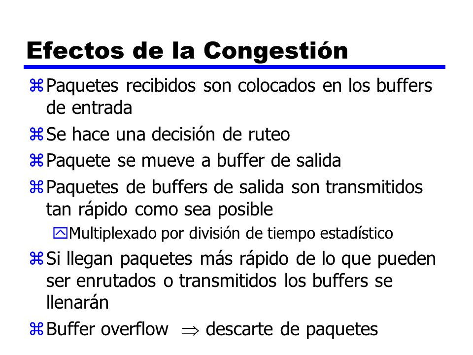 Efectos de la Congestión
