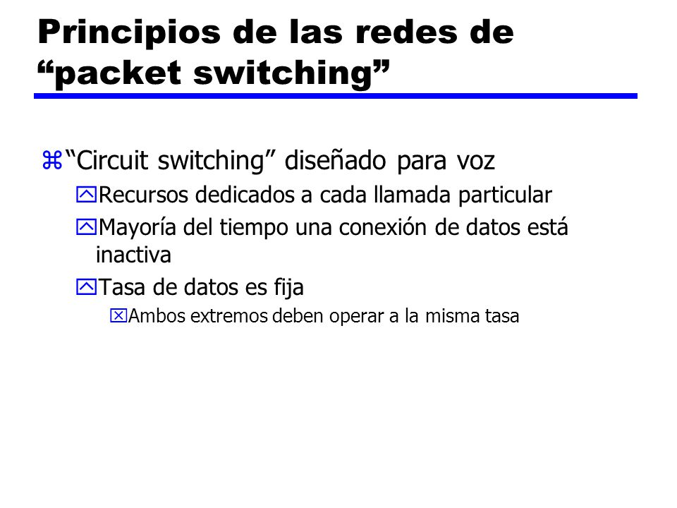 Principios de las redes de packet switching