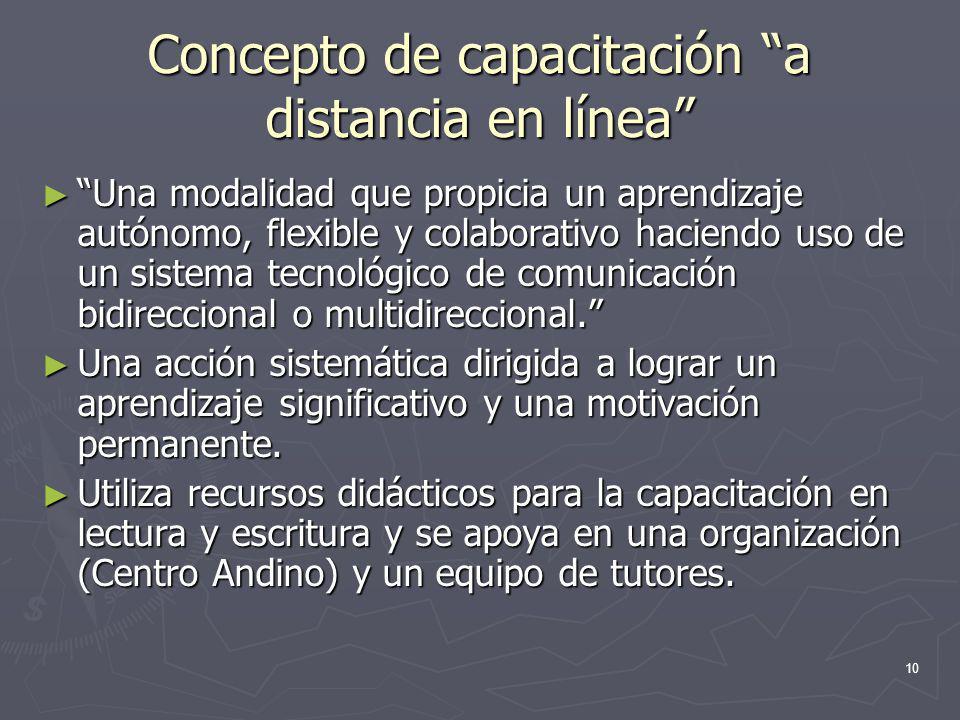 Concepto de capacitación a distancia en línea