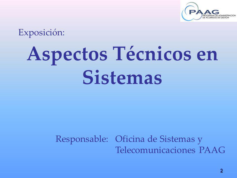 Aspectos Técnicos en Sistemas