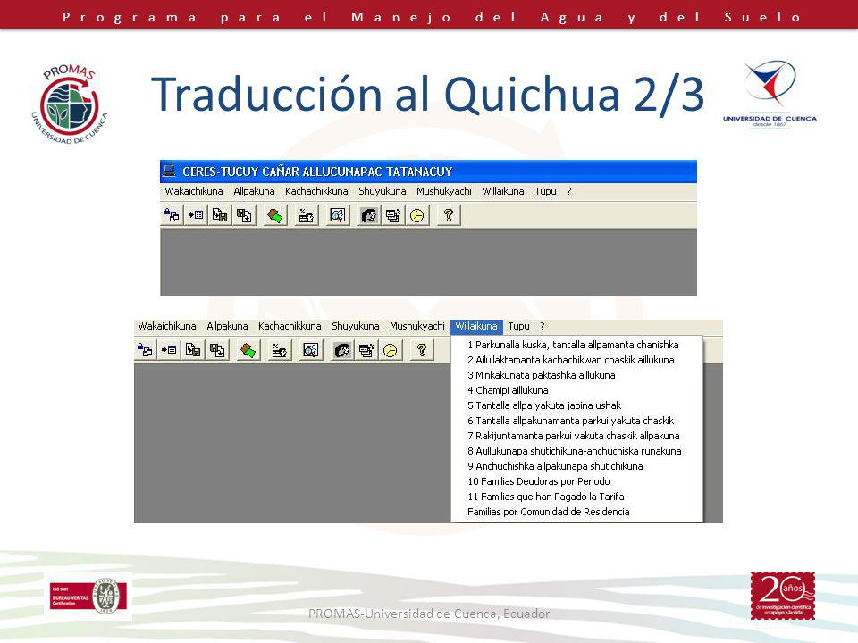 Traducción al Quichua 2/3