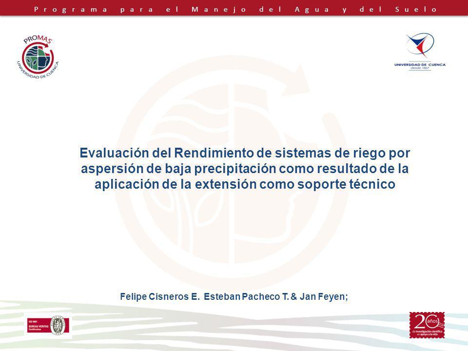 Felipe Cisneros E. Esteban Pacheco T. & Jan Feyen;