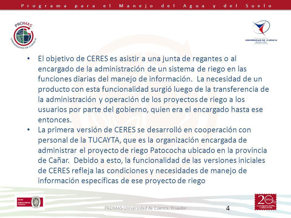 PROMAS-Universidad de Cuenca, Ecuador