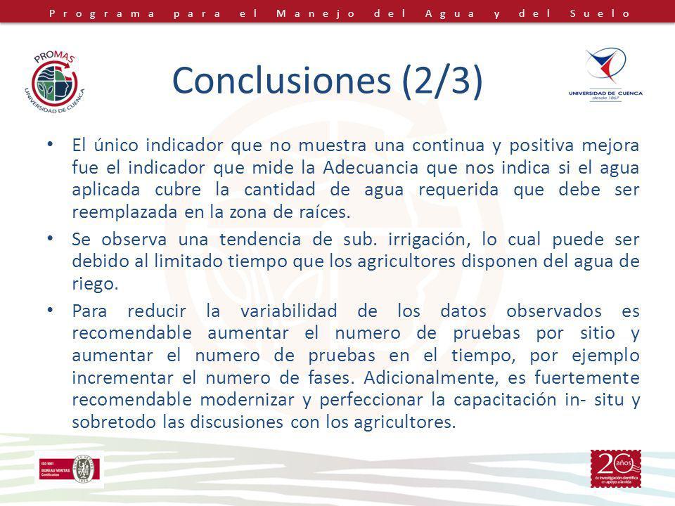 Conclusiones (2/3)