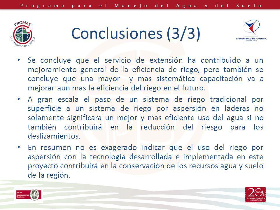 Conclusiones (3/3)