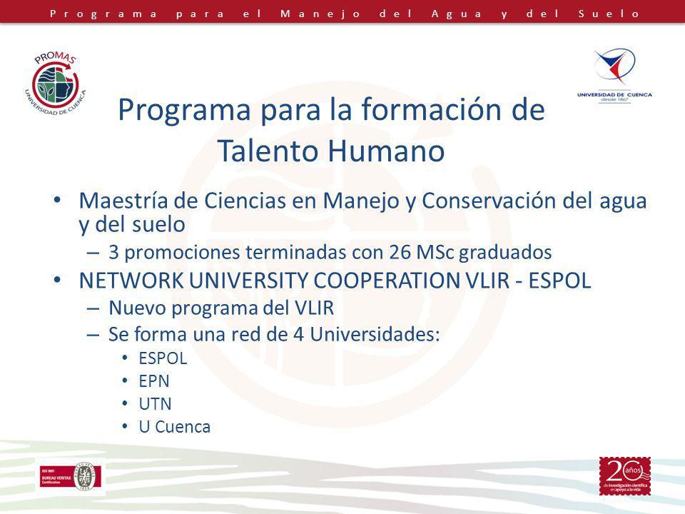 Programa para la formación de Talento Humano