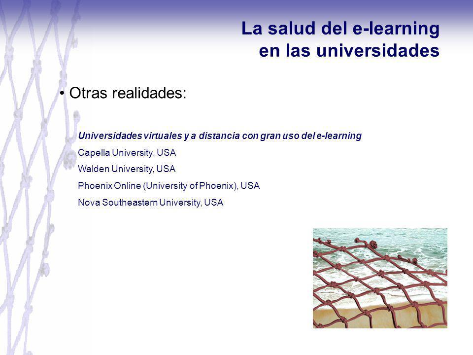 La salud del e-learning en las universidades