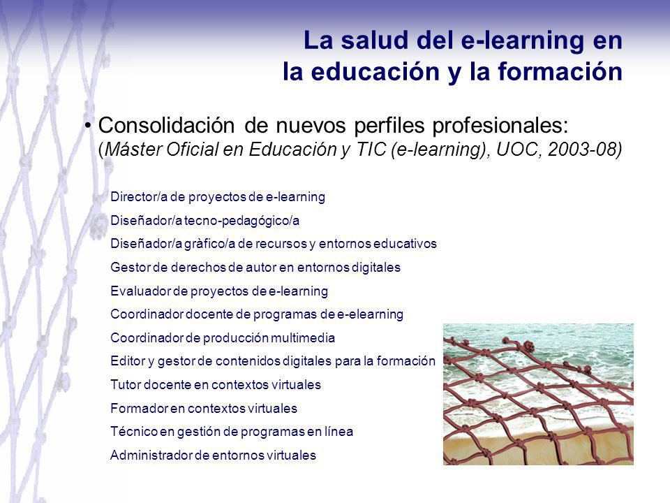 La salud del e-learning en la educación y la formación