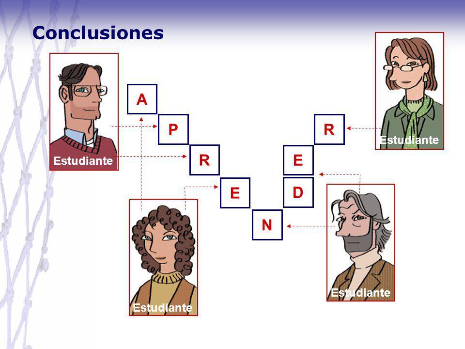 Conclusiones A P R R E D E N Estudiante Estudiante Estudiante