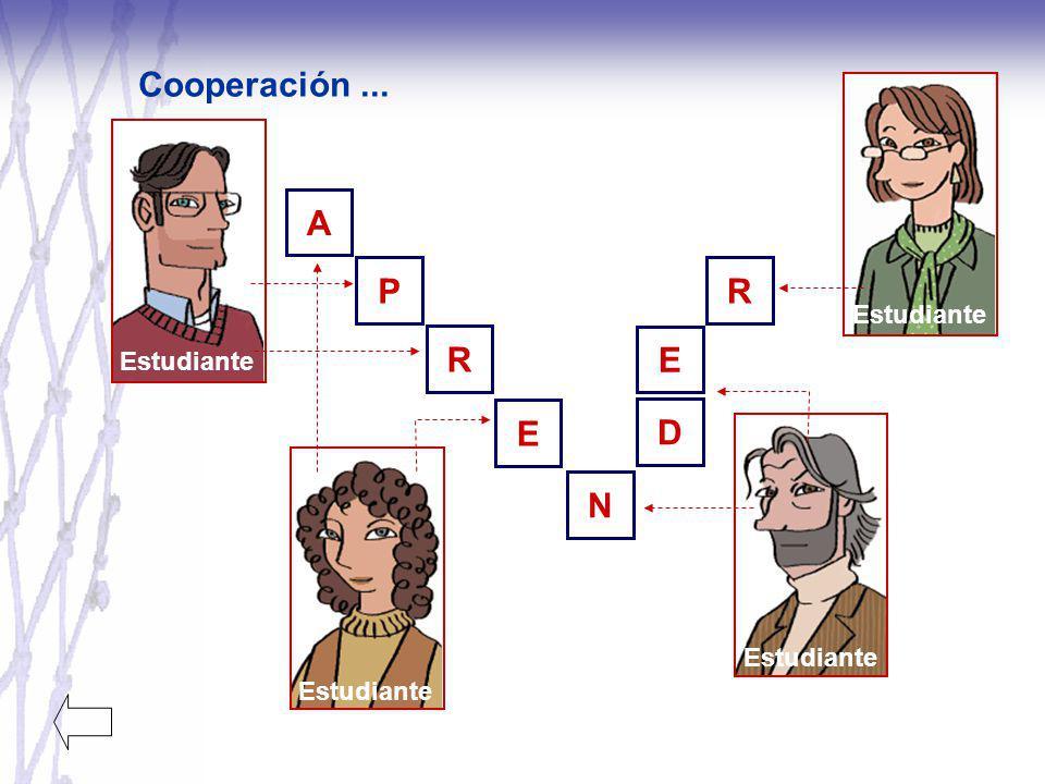 Cooperación ... A P R R E D E N Estudiante Estudiante Estudiante