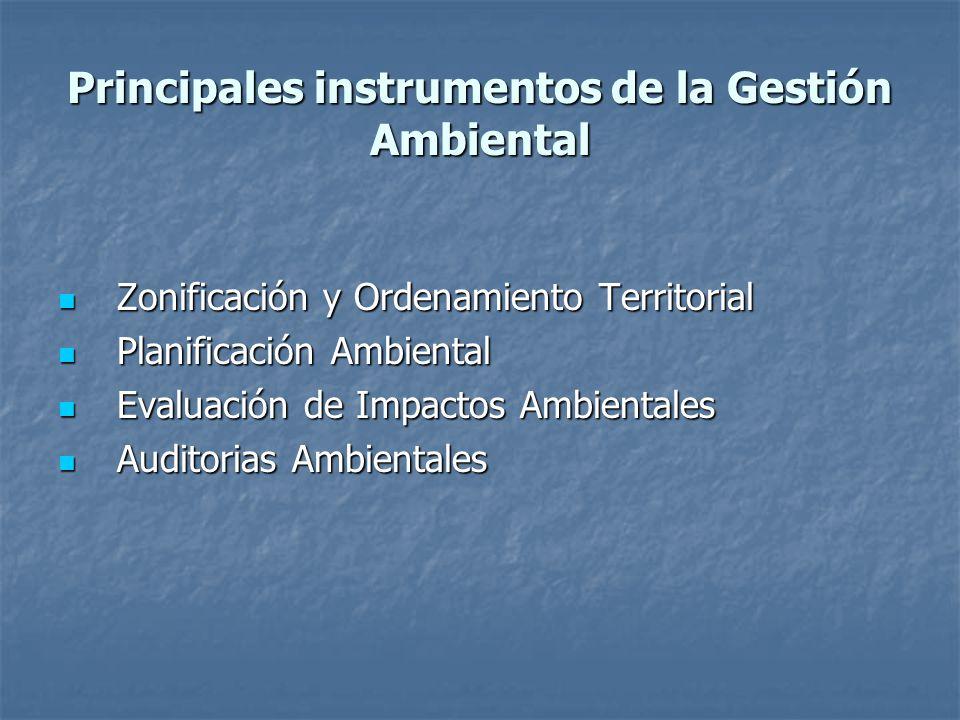 Principales instrumentos de la Gestión Ambiental