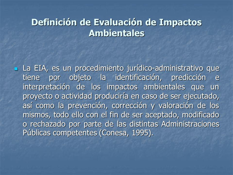 Definición de Evaluación de Impactos Ambientales