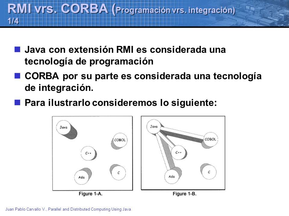 RMI vrs. CORBA (Programación vrs. integración) 1/4