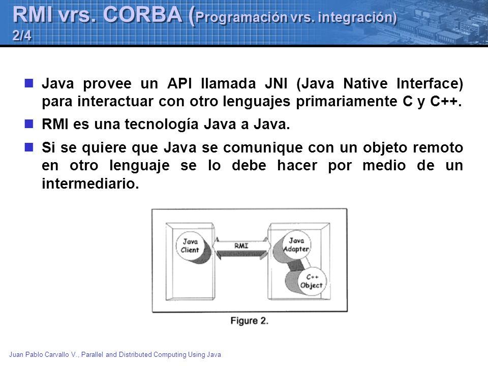 RMI vrs. CORBA (Programación vrs. integración) 2/4