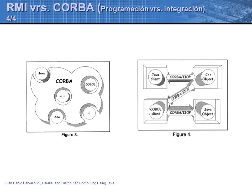 RMI vrs. CORBA (Programación vrs. integración) 4/4