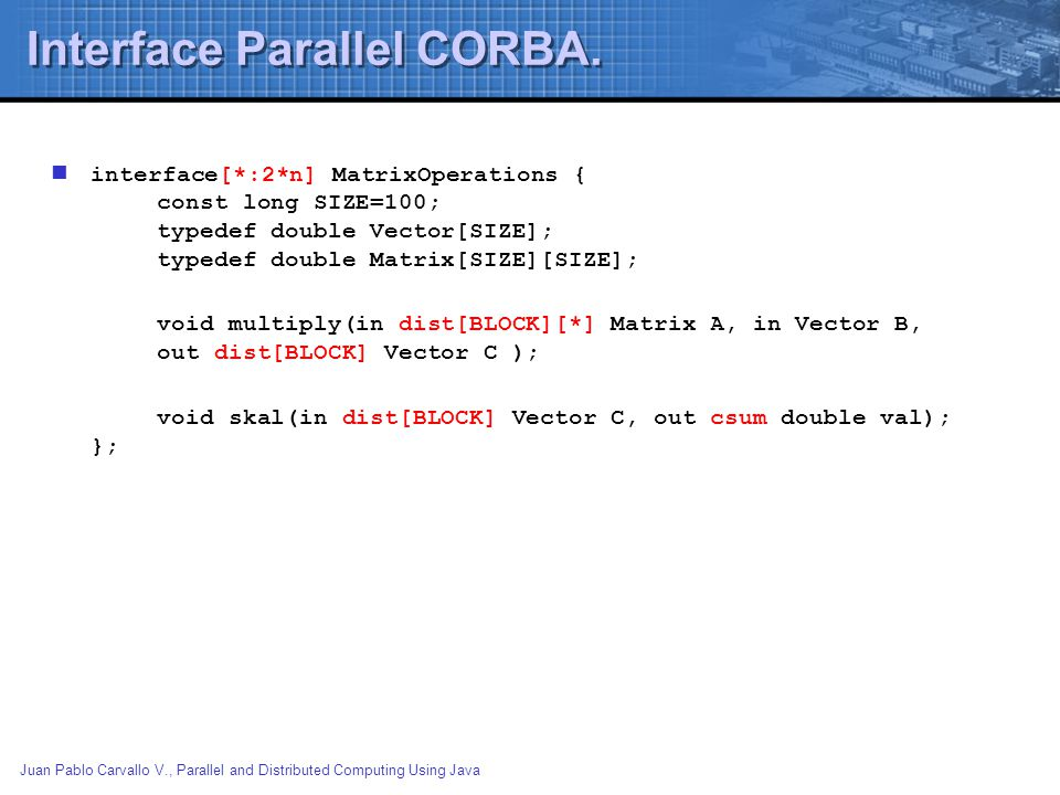 Interface Parallel CORBA.