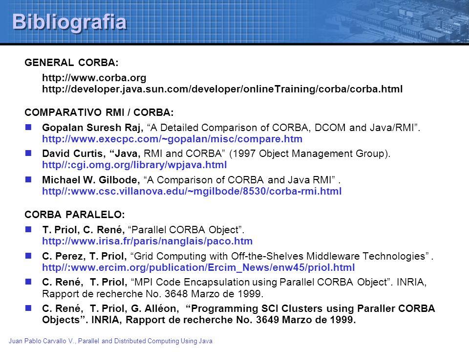 Bibliografia GENERAL CORBA: