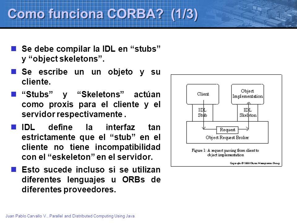 Como funciona CORBA (1/3)