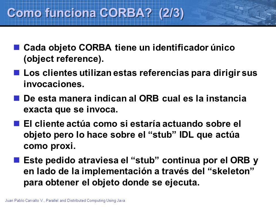 Como funciona CORBA (2/3)