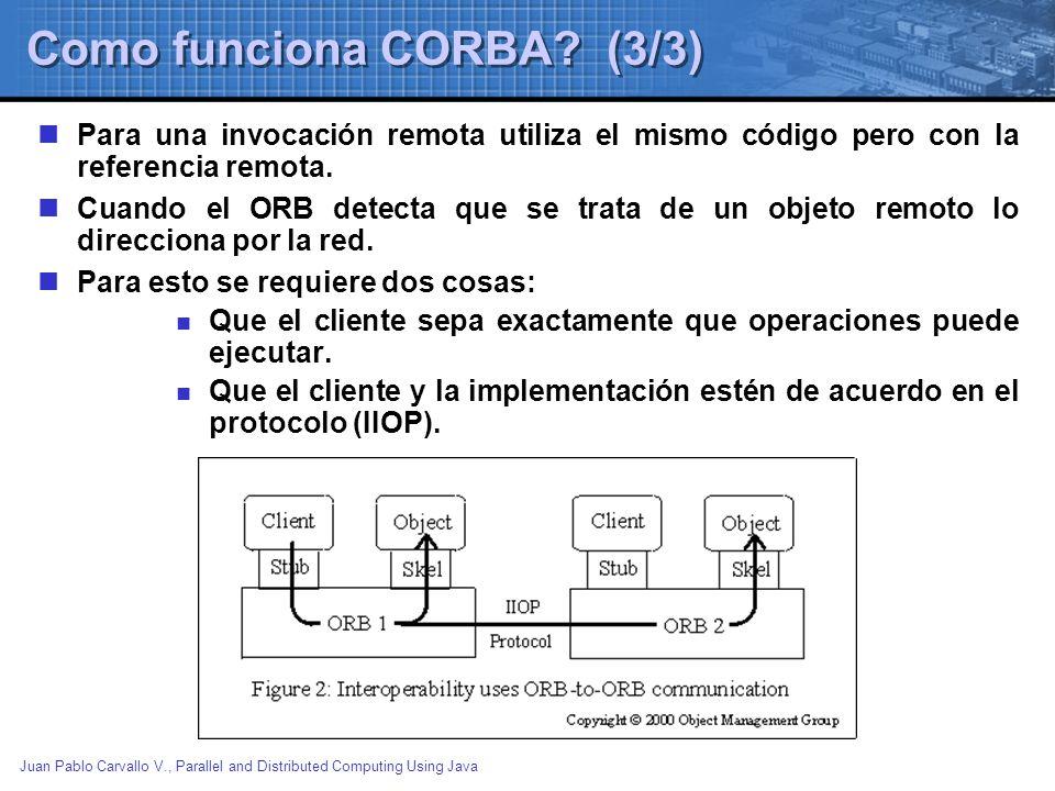 Como funciona CORBA (3/3)