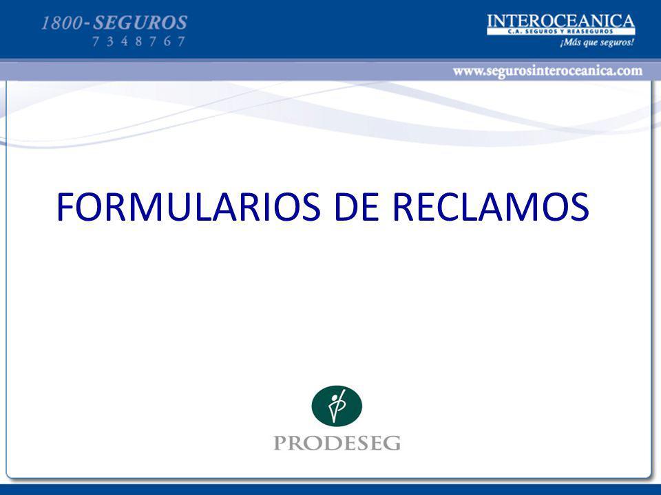 FORMULARIOS DE RECLAMOS
