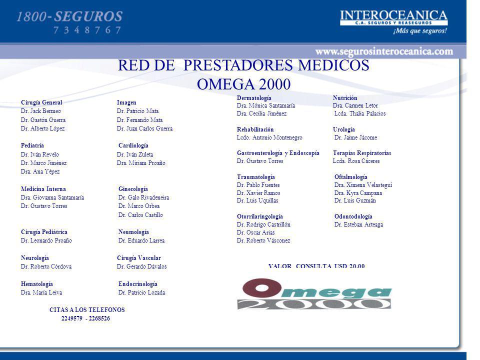 RED DE PRESTADORES MEDICOS