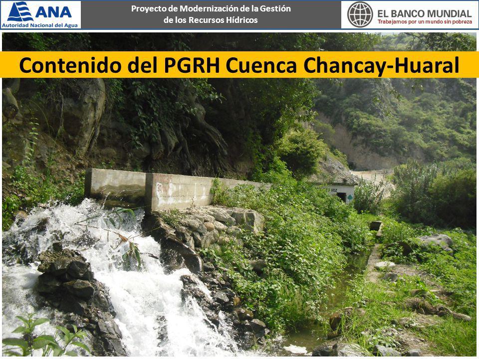 Contenido del PGRH Cuenca Chancay-Huaral
