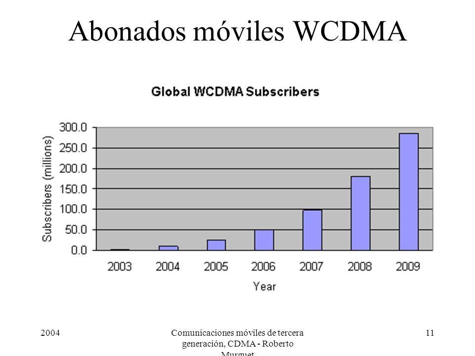 Abonados móviles WCDMA