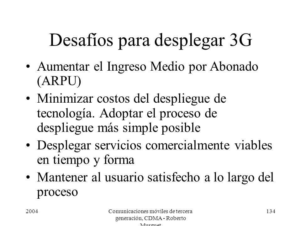 Desafíos para desplegar 3G