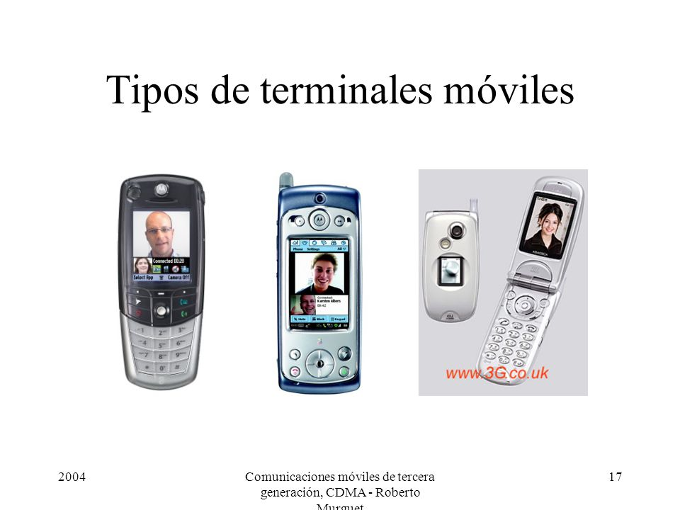 Tipos de terminales móviles