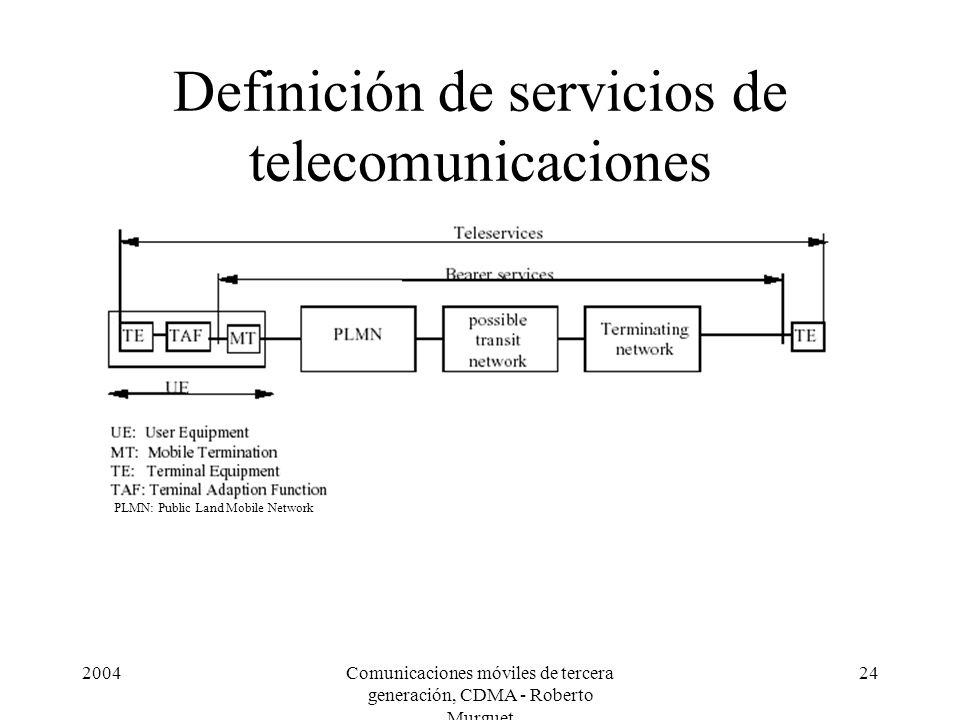 Definición de servicios de telecomunicaciones