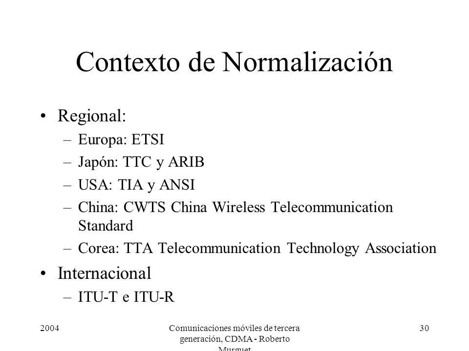 Contexto de Normalización