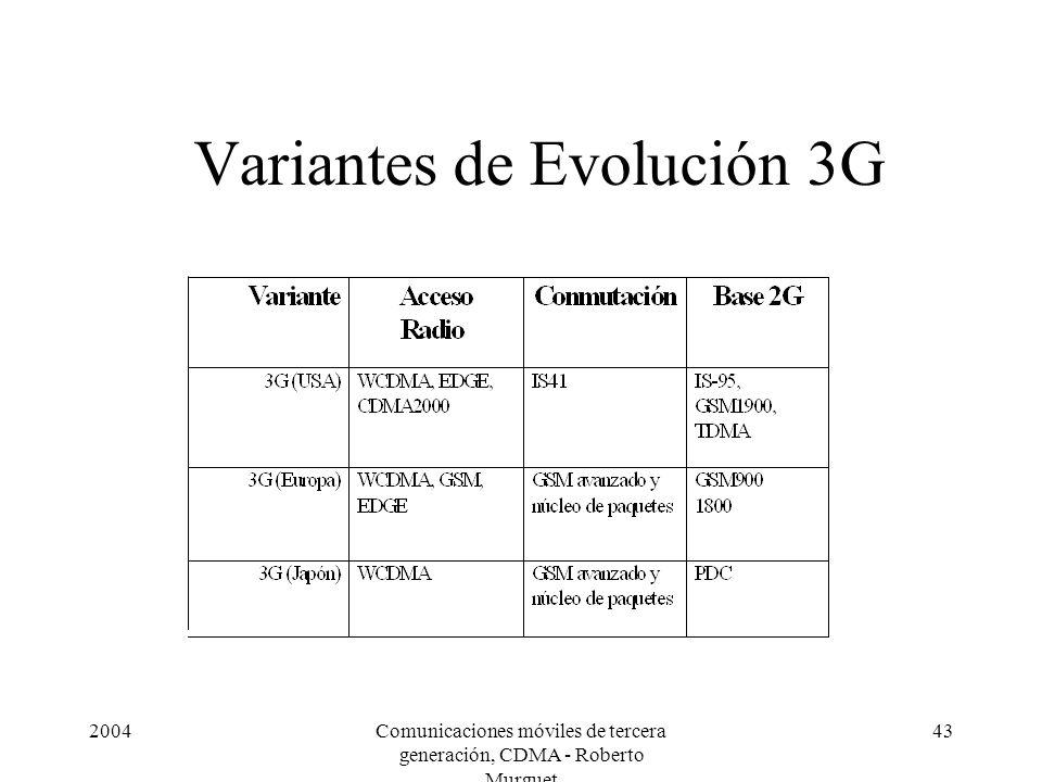 Variantes de Evolución 3G