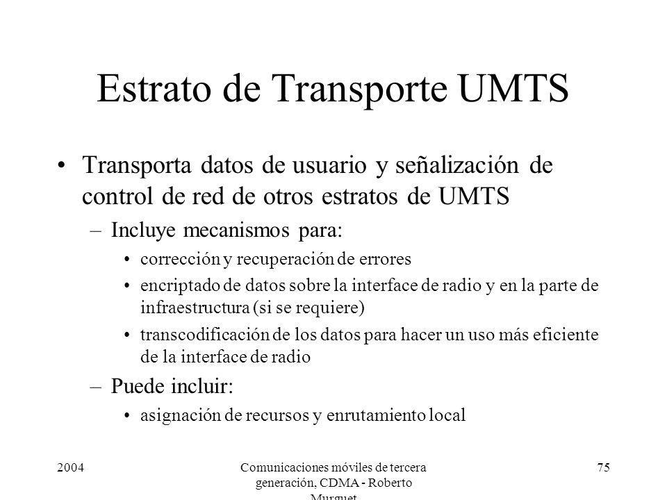 Estrato de Transporte UMTS