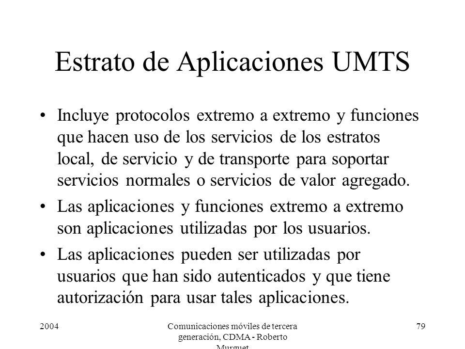 Estrato de Aplicaciones UMTS